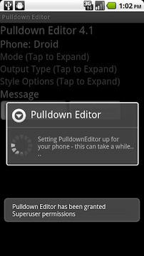 Pulldown Editor