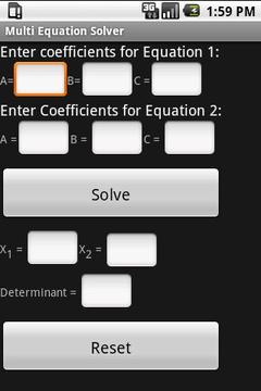 Multi Equation Solver