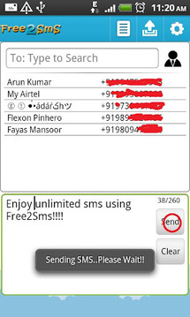 F2S Free SMS India