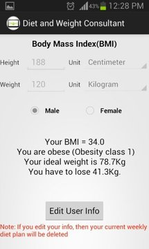 Diet and Weight Advisor Free
