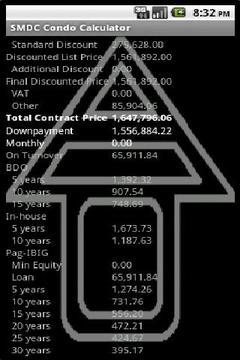 SMDC Condo Price Calculator
