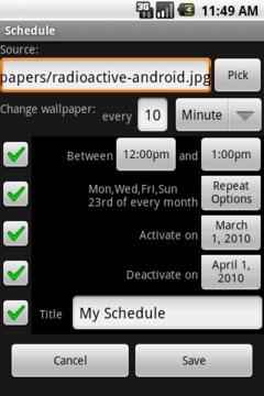 Wallpapers: Scheduler Free