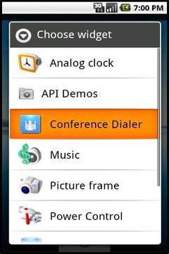 Conference Dialer Widget