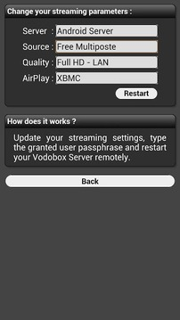 My VODOBOX Android Server