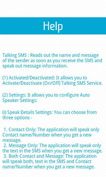 Talking SMS Lite