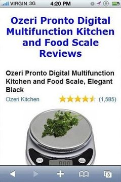 Kitchen Food Scale Reviews