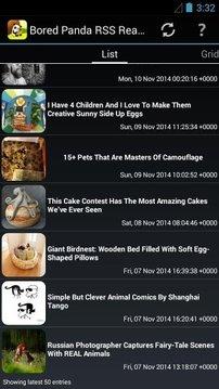 Bored Panda RSS Reader