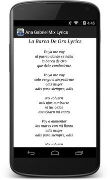 Ana Gabriel Mix Lyrics