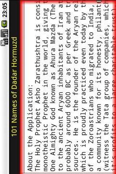 101 Names of Dadar Hormuzd