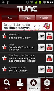 Tune.pl - teksty piosenek