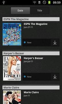 Zinio 的电子杂志阅读器