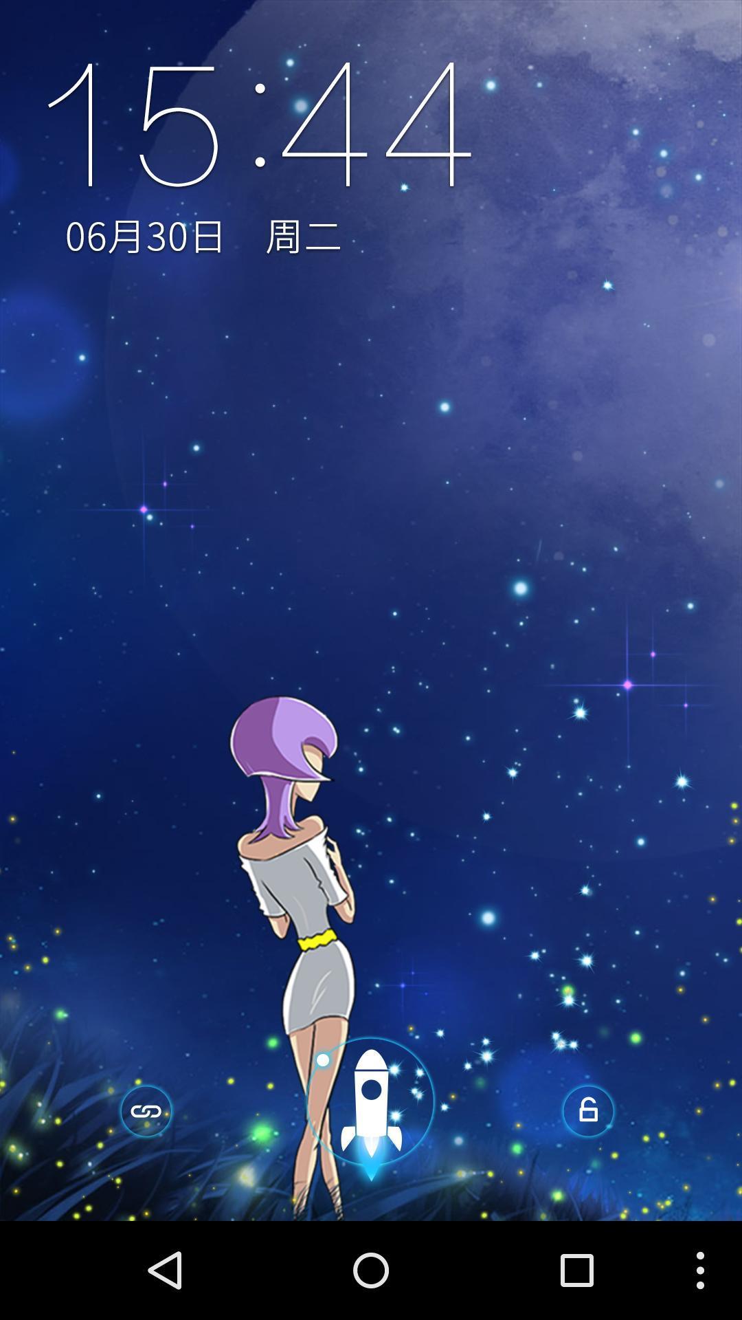 星空下的女孩-梦象动态壁纸