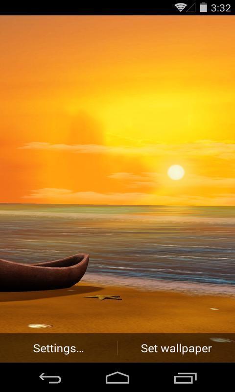 3d暮色海滩梦象动态壁纸特点:  -高清画质,带来更棒背景视觉享受