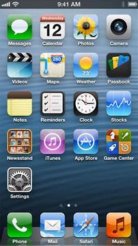 iPhone 5 画面