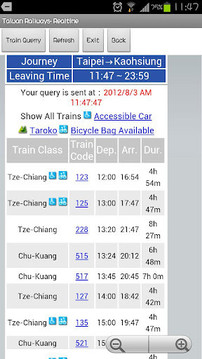 Taiwan Rail- RealTime-In English