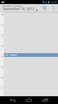 预定义的日历