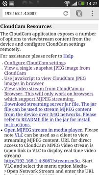 Cloud Spy Cam Demo