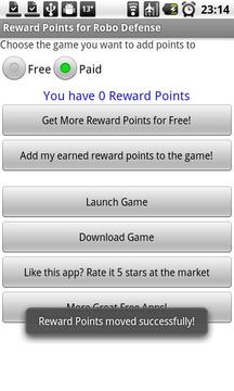 Robo Reward Points