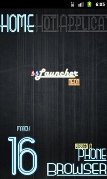 Neon Blue Theme for ssLauncher