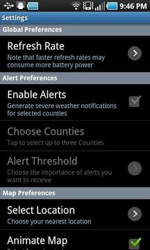 NOAA Radar and Alerts