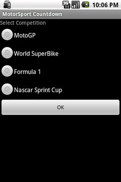 MotorSport Countdown Widget