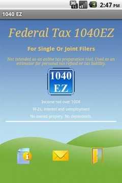 Federal Tax 1040EZ