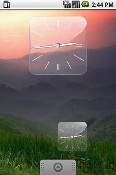 玻璃时钟插件