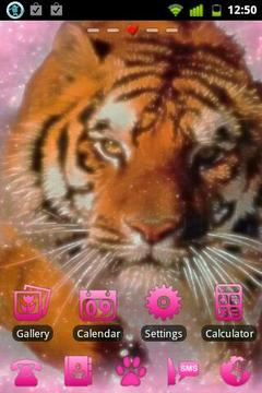 Pink Tiger Theme GO Launcher