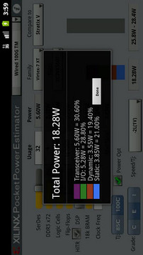 Xilinx Pocket Power Estimator