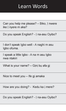 Ị Na-asu Igbo: Greetings I