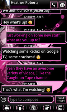 Pink ICS Bubblegum GO SMS
