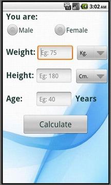 Calculate ideal weight (BMI)