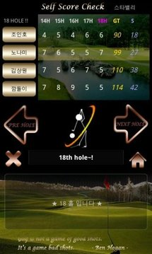골프 샷 shot ! (골프,샷스코어,스코어카드)