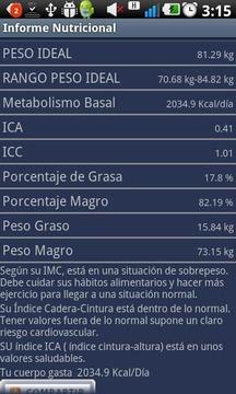 Informe Nutricional