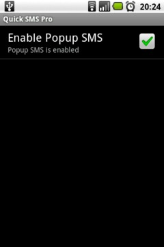 Quick SMS PopUp