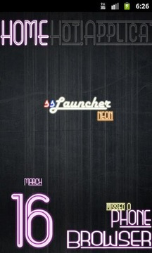 Neon Pink Theme for ssLauncher