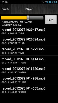 Android MP3 Sound Recorder 1.1
