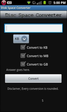 Disc Space Converter