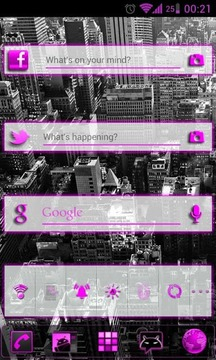 GOWidget Pink ICS Light Free