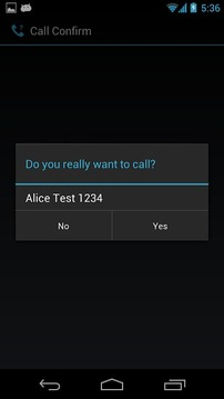 Minimalist Call Confirm