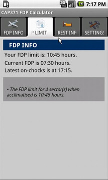 CAP 371 FDP Calculator Trial
