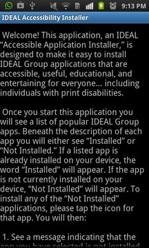 IDEAL Accessible App Installer
