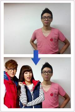 UMION 모델 K-POP 아이돌 스타 사진 합성