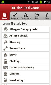 First aid by British Red Cross