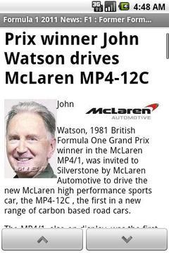 Formula 1 2011 News