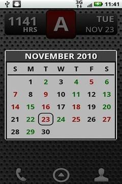 FD Shift Calendar Widget