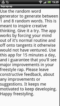 How to freestyle rap -training