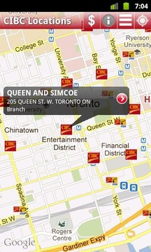 CIBC ATM and Branch Locations