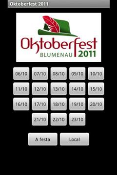 Oktoberfest 2011 - Programação
