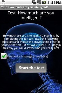 Test: Your intelligence!
